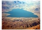 Foto meer in woestijn