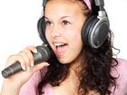 Foto microfoon en hoofdtelefoon