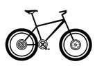 Kleurplaat mountainbike