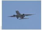 Foto opstijgend vliegtuig
