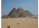 Foto piramides in Gizeh