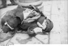 Foto Polen - Ghetto Warschau - kind in lompen