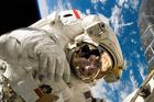 Foto ruimtewandeling