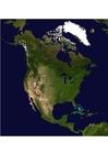 Foto sattelietbeeld Noord Amerika