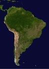 Foto sattelietbeeld Zuid Amerika