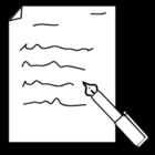 Kleurplaat schrijven