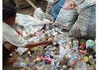 Foto sloppenwijk in Jakarta