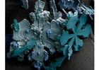 Foto sneeuwkristallen onder microscoop