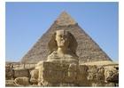 Foto sphinx en piramide in Gizeh