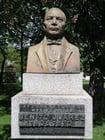 Foto standbeeld - president Benito Juárez