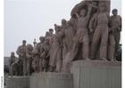 Foto standbeeld tiananmenplein