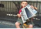 Foto straatmuzikant in Istanbul.
