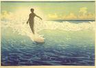Foto surfer op Hawaï