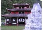 Foto tempel in dorp