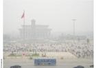 Foto tiananmenplein met smog