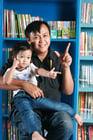 Foto vader met kind