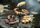 Foto vlees op de bbq
