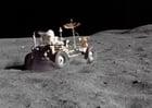 Foto voertuig op de maan