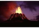 Foto vulkaanuitbarsting