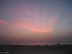 Foto zonsondergang strand