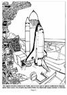 Kleurplaat 01 - De Space Shuttle wordt gelanceerd