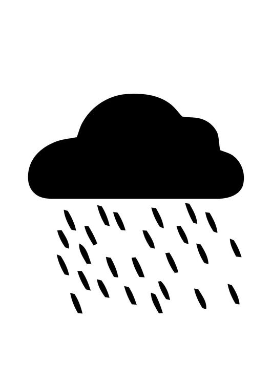 kleurplaat 01a regen  afb 11298