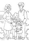 Kleurplaat 1. familie