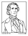 Kleurplaat 10 John Tyler