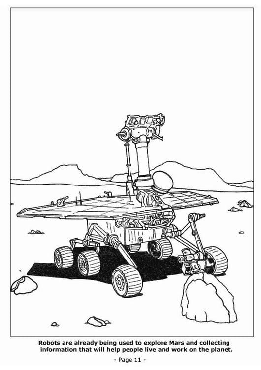 Kleurplaten Robots.Kleurplaat 11 Robots Om Mars Te Verkennen Afb 4191