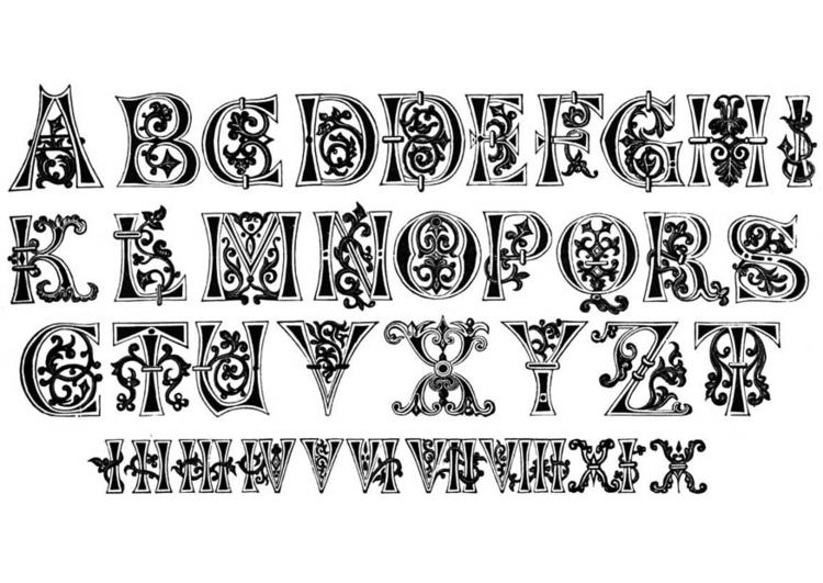 Kleurplaat 11e Eeuw Letters En Nummers Afb 11258