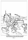 Kleurplaat 13 - Robots helpen astronauten