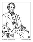 Kleurplaat 16 Abraham Lincoln