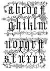 Kleurplaat 16e eeuwse letters