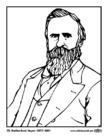 Kleurplaat 19 Rutherford Hayes