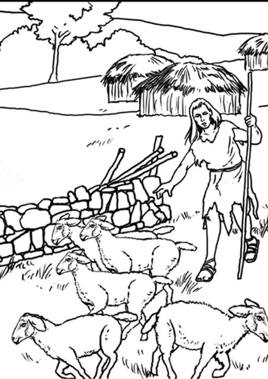 kleurplaat 1b herders gratis kleurplaten om te printen