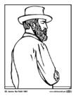 Kleurplaat 20 James Garfield