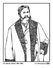 Kleurplaat 21 Chester Arthur