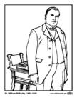 Kleurplaat 25 William McKinley