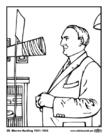 Kleurplaat 29 Warren Harding