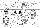 Kleurplaat 2b winter