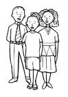 Kleurplaat 3 kinderen
