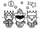 Kleurplaat 3 Koningen