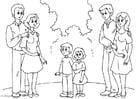 Kleurplaat 3. ouders-met-nieuwe-partner