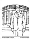 Kleurplaat 30 Calvin Coolidge