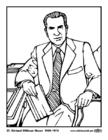 Kleurplaat 37 Richard Milhous Nixon