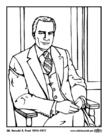 Kleurplaat 38 Gerald R. Ford