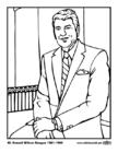 Kleurplaat 40 Ronald Wilson Reagan