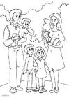 Kleurplaat 5. nieuwe-familie-bij-vader
