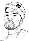 Kleurplaat 50 Cent