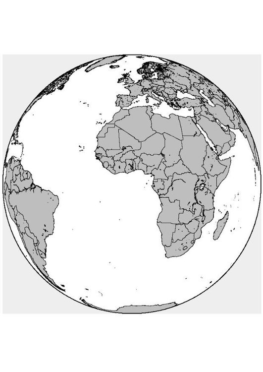 Kleurplaten Europa.Kleurplaat Afrika Europa Afb 8313